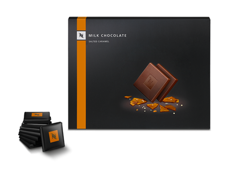 Milk Chocolate squares with salted caramel pieces - Limited Edition