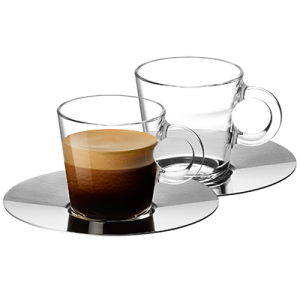 VIEW Collection 2x Espresso Cups and Saucers Set
