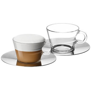 VIEW Collection 2x Cappuccino Cups and Saucers Set
