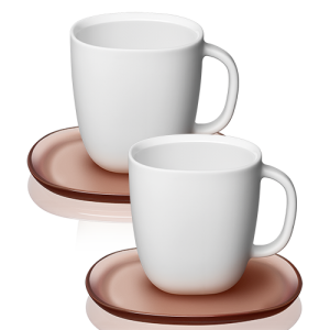 Lume Collection 2x Gran Lungo Cups and Saucers Set