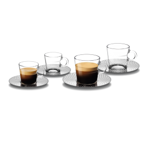 VIEW Collection 2x Espresso & Lungo Cups and Saucers Set